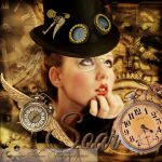 Steampunk woman