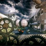 Steampunk scenery