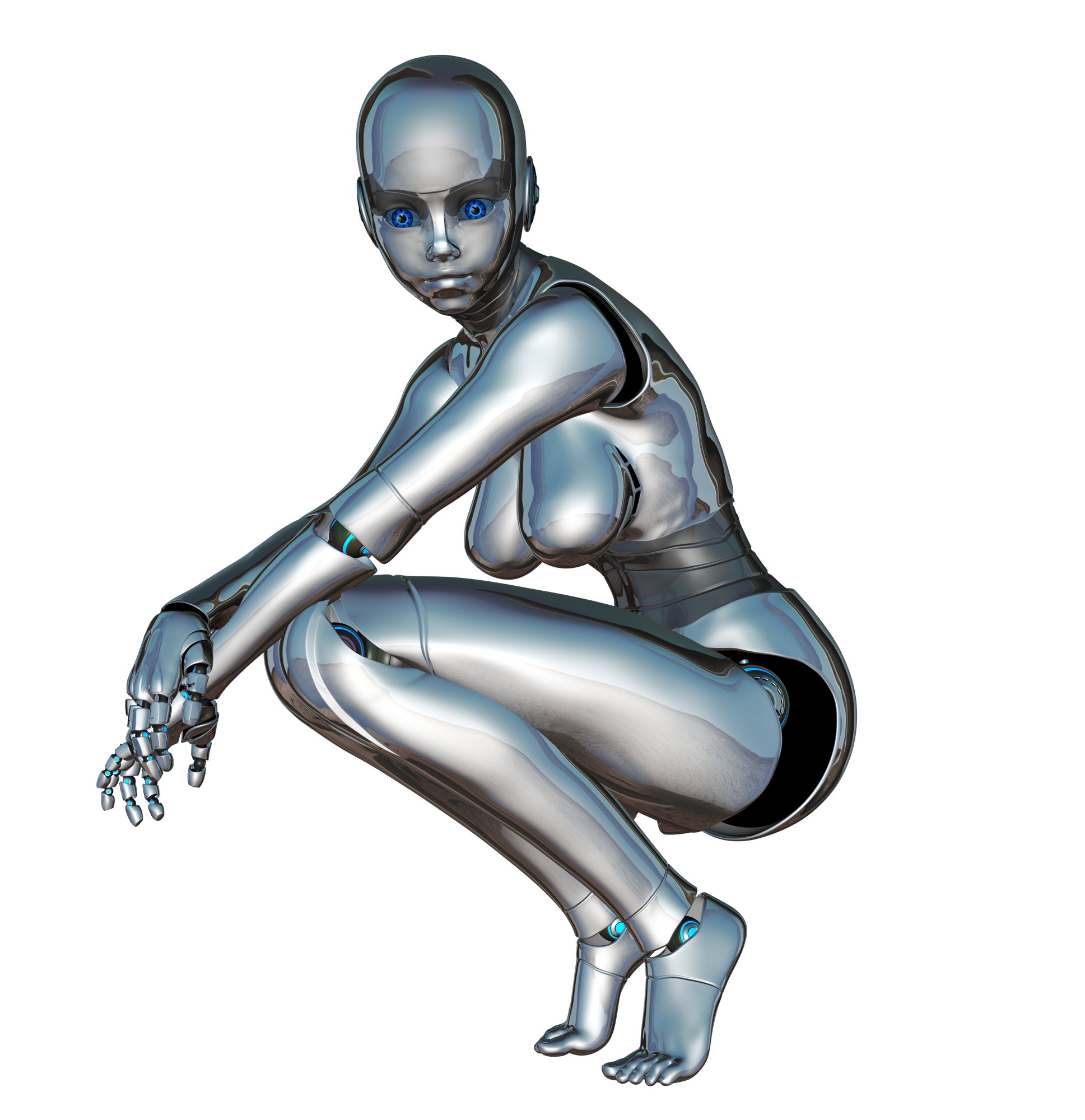 Robot-looking-at-the-far-future